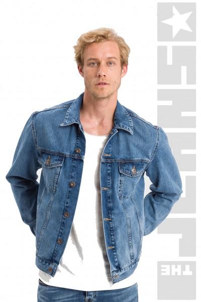 Jeans Jacket Regular Dark Mid Blue