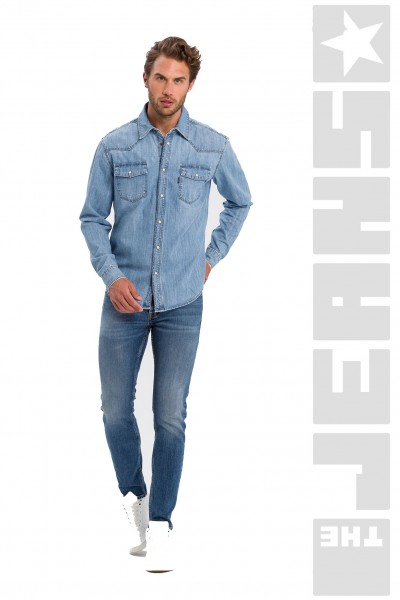 Jeanshemd Light Blue