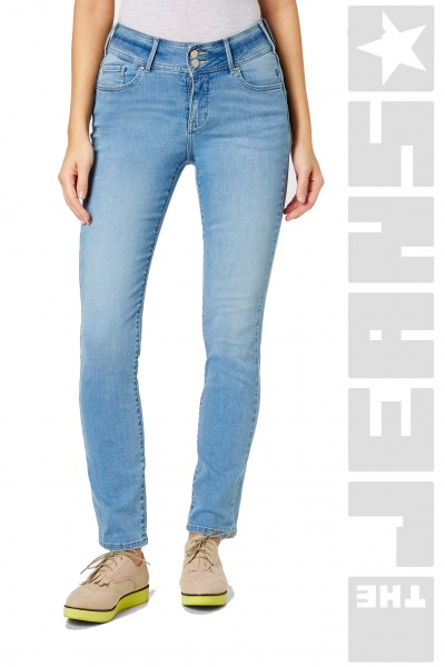 Pat Shape Denim Light Blue Stone Used Washed