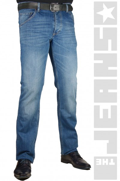 Michigan Straight Blue Denim Stretch