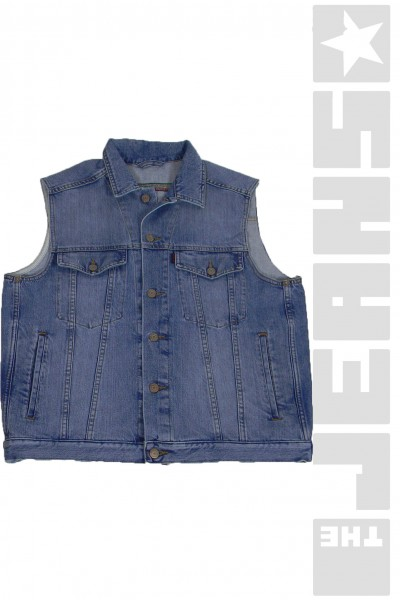 590 Jeansweste Hellblau